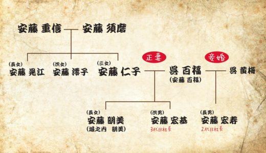 安藤仁子の子孫は現在も日清食品にいるの?