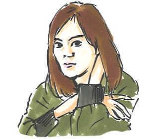 NHK朝の連続テレビ小説「おかえりモネ」で明日美役の恒松祐里の画像です。